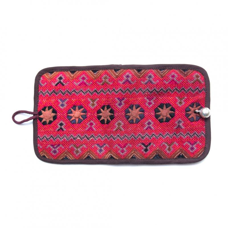 画像3:ThongPua モン族ヴィンテージ刺繍の二つ折り財布 Type.1(一点もの)