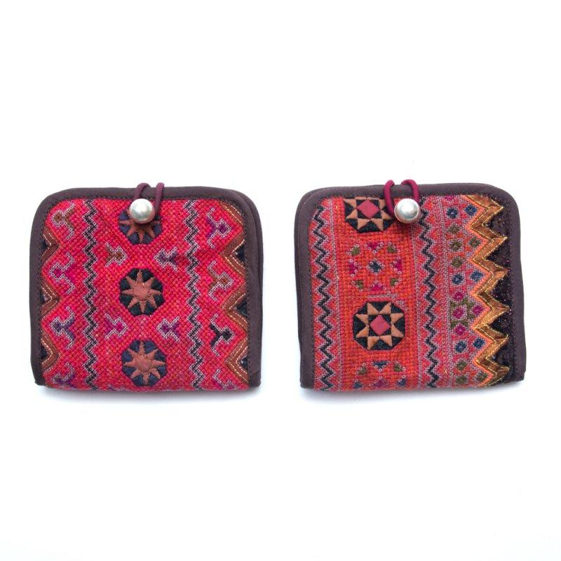 画像4:ThongPua モン族ヴィンテージ刺繍の二つ折り財布 Type.1(一点もの)