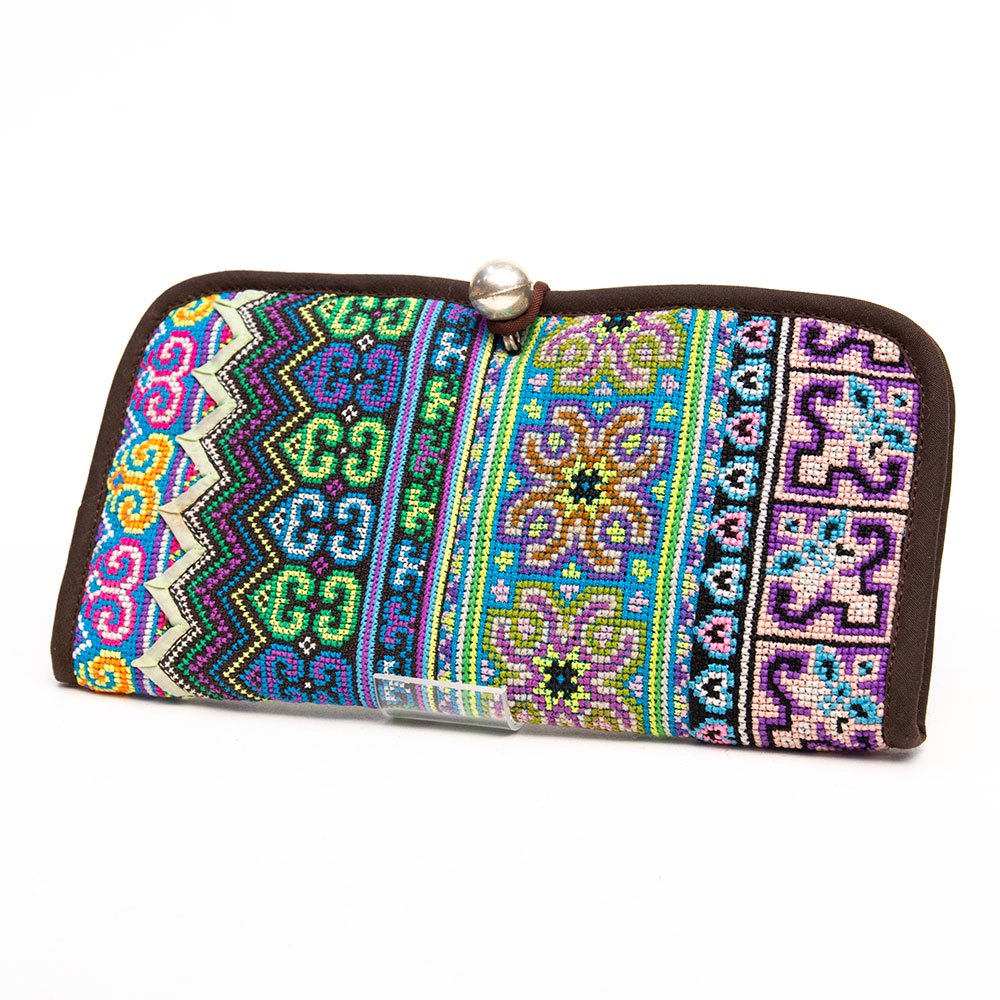 ThongPua モン族刺繍古布の長財布 Type.4(一点もの)