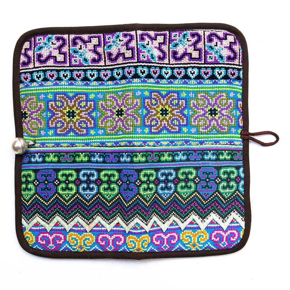 画像4:ThongPua モン族刺繍古布の長財布 Type.4(一点もの)