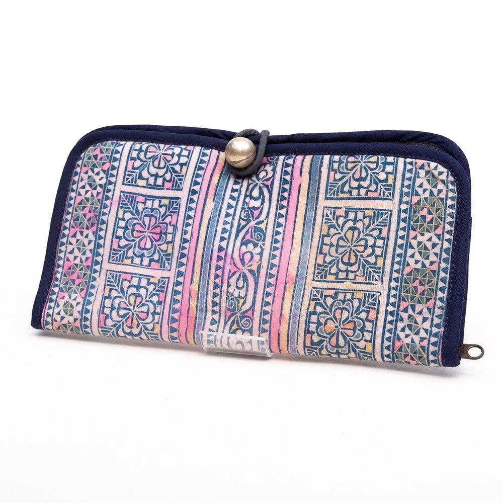 ThongPua モン族刺繍古布の長財布 Type.5(一点もの)