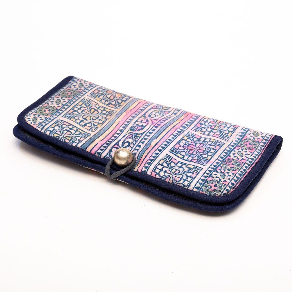 画像2:ThongPua モン族刺繍古布の長財布 Type.5(一点もの)