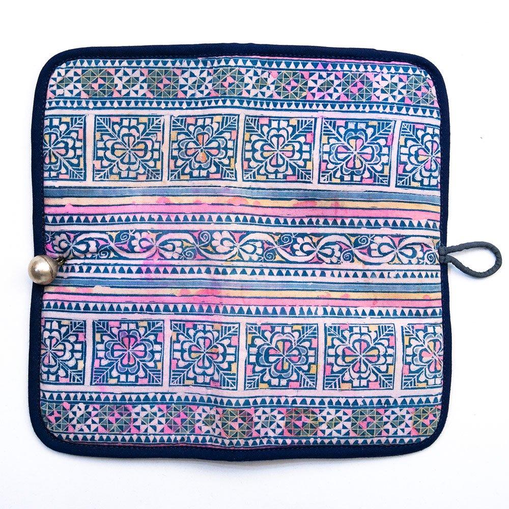 画像4:ThongPua モン族刺繍古布の長財布 Type.5(一点もの)
