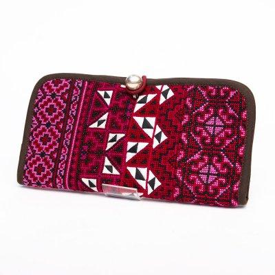 ThongPua モン族刺繍古布の長財布 Type.6(一点もの)