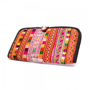 ThongPua モン族刺繍古布の長財布 Type.7(一点もの)