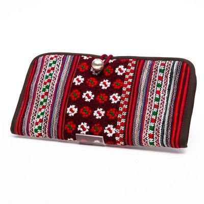 ThongPua モン族刺繍古布の長財布 Type.8(一点もの)
