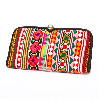 ThongPua モン族刺繍古布の長財布 Type.9(一点もの)