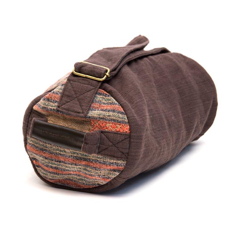 画像2:THANGEN ナガ族刺繍のミニドラムバッグ Type.1