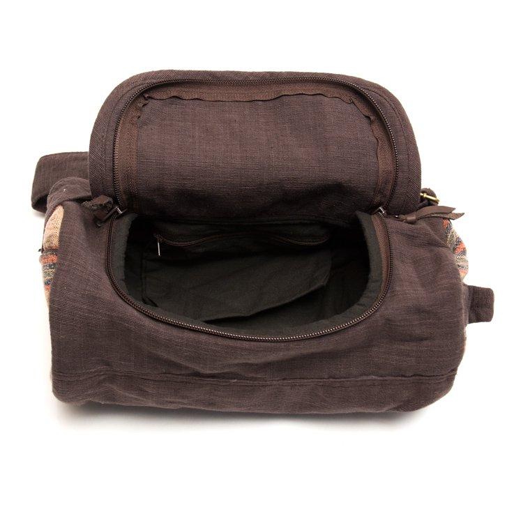 画像4:THANGEN ナガ族刺繍のミニドラムバッグ Type.1