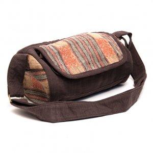 THANGEN ナガ族手織り布のミニドラムバッグ Type.1