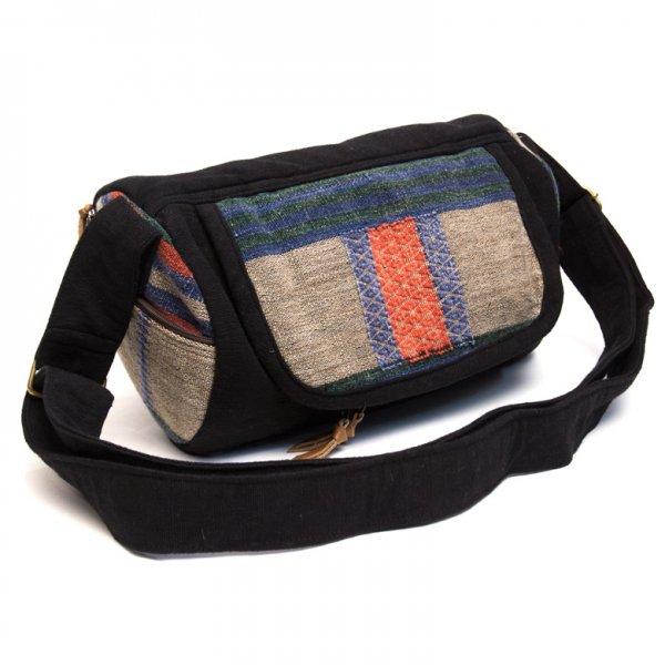 THANGEN ナガ族刺繍のミニドラムバッグ Type.2