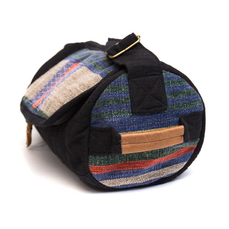 画像2:THANGEN ナガ族刺繍のミニドラムバッグ Type.2