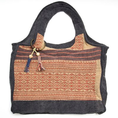 THANGEN ナガ族手織り布のマザーズバッグ Type.2
