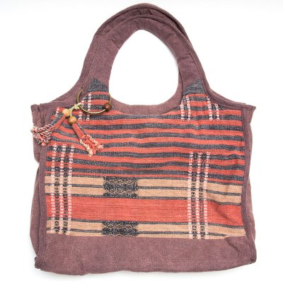 THANGEN ナガ族手織り布のマザーズバッグ Type.3