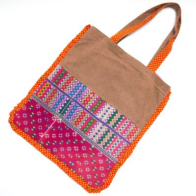 THANGEN カレン族手織り布のトートバッグ Type.1