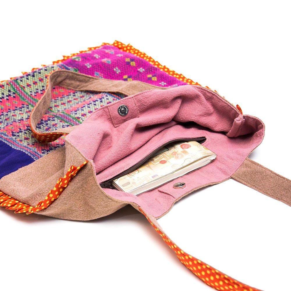 画像4:THANGEN カレン族刺繍のトートバッグ Type.2