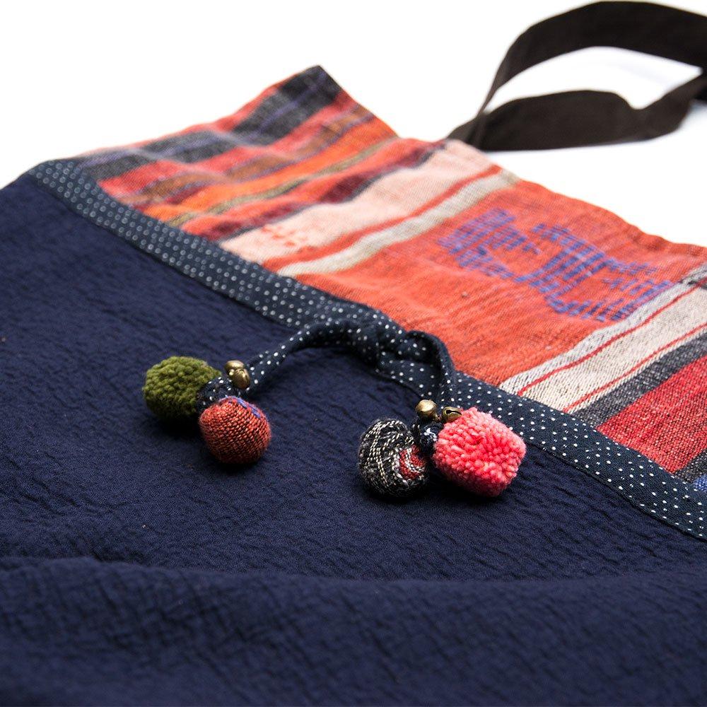 画像2:THANGEN ナガ族刺繍のトートバッグ Type.1