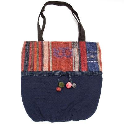 THANGEN ナガ族手織り布のトートバッグ Type.1