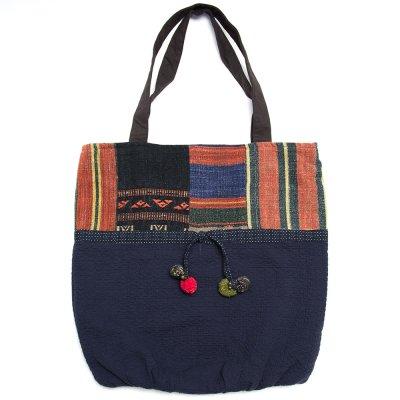THANGEN ナガ族手織り布のトートバッグ Type.2