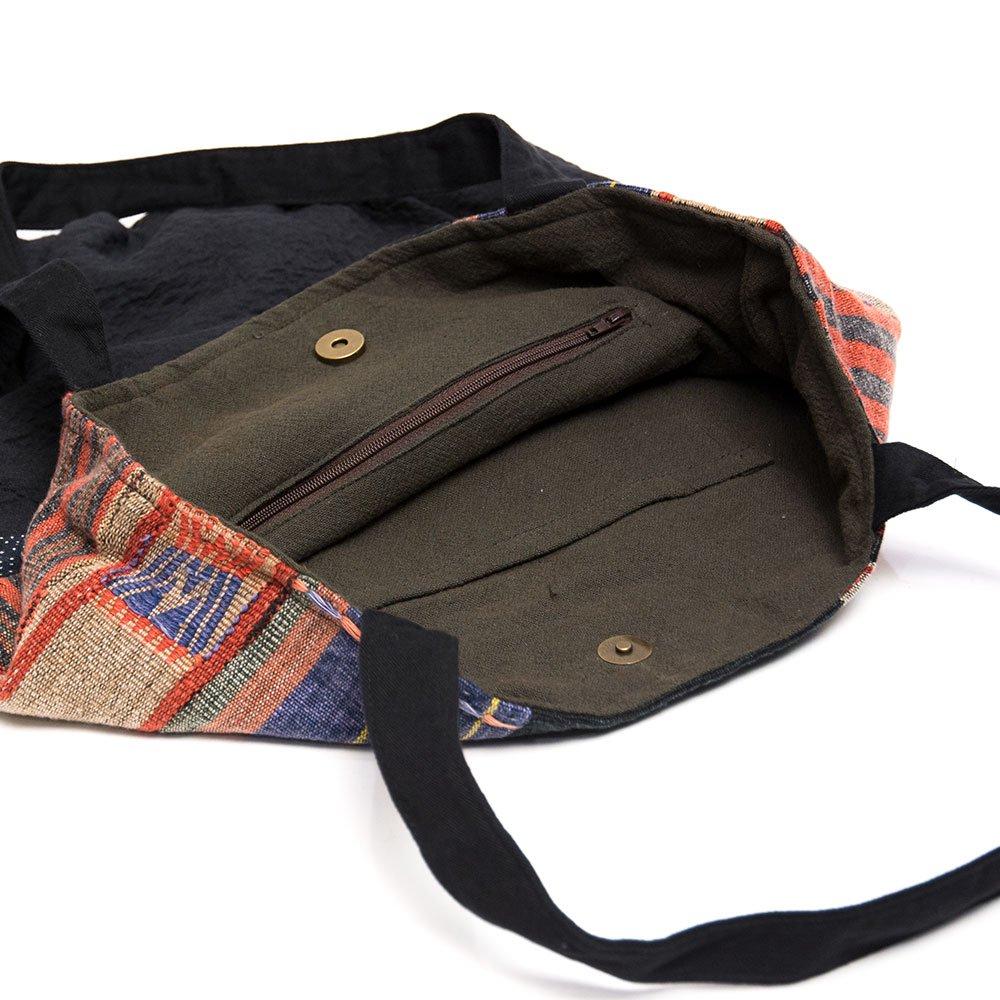 画像4:THANGEN ナガ族刺繍のトートバッグ Type.3