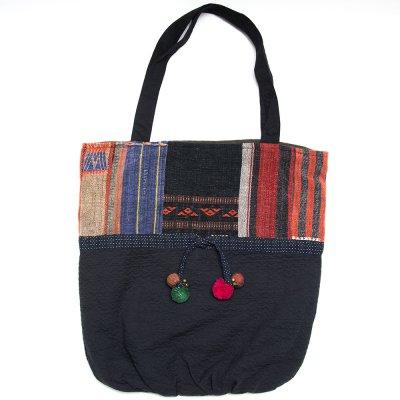 THANGEN ナガ族手織り布のトートバッグ Type.3