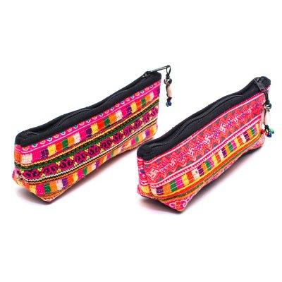 ThongPua モン族刺繍古布ペンケース Type.1
