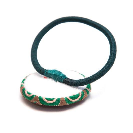 画像2:ThongPua モン族ヴィンテージ刺繍の大きめヘアゴム Type.2