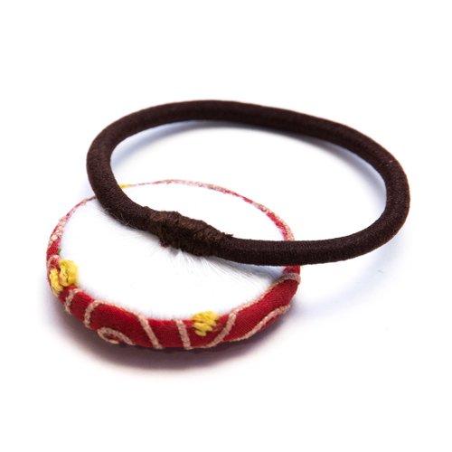 画像2:ThongPua モン族ヴィンテージ刺繍の大きめヘアゴム Type.3