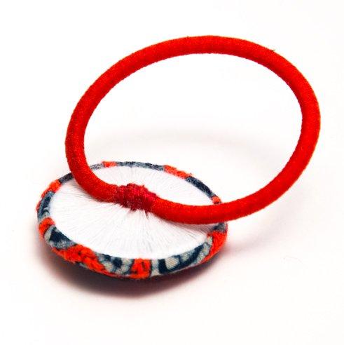 画像2:ThongPua モン族ヴィンテージ刺繍の大きめヘアゴム Type.4