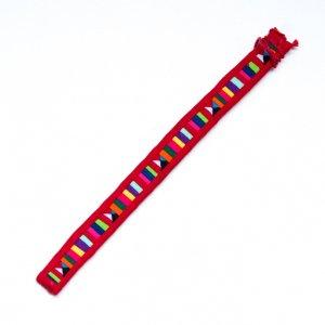 <フェアトレード>TTCrafts リス族刺繍のミサンガ(レッド)