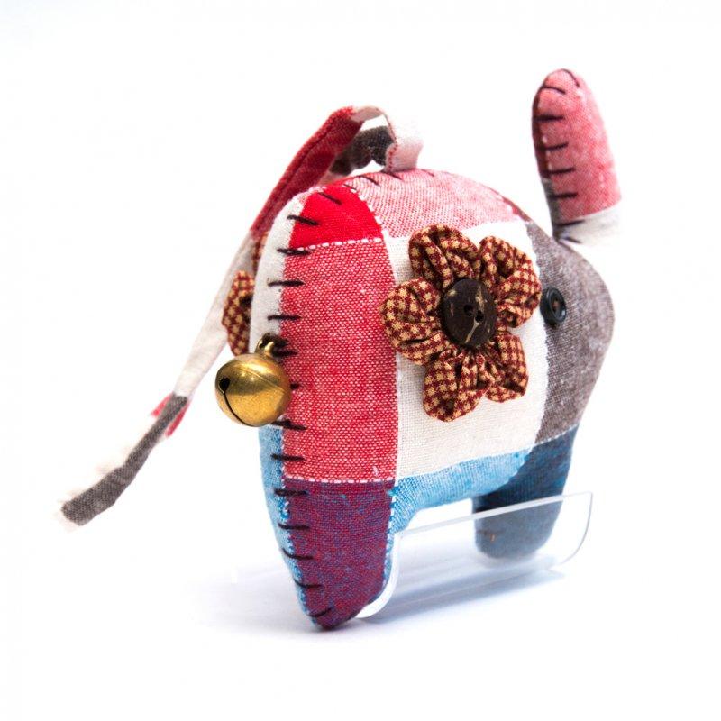 画像4:手縫いゾウさんのかわいいドアチャーム Type.4
