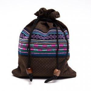 A Bu-Ari(アブアリ)アカ族刺繍巾着マグポーチ