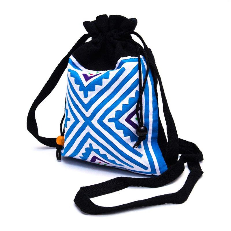 画像4:A Bu-Ari(アブアリ)モン族刺繍の巾着ポーチ Type.1