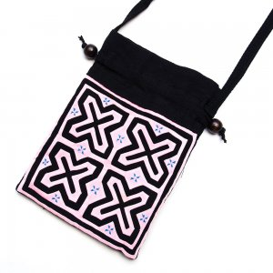 A Bu-Ali(アブアリ)モン族刺繍の巾着ポーチ Type.2