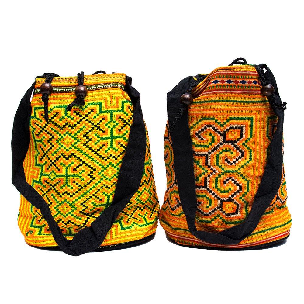 画像4:モン族 民族刺繍古布を使用したハンドバッグ(S)