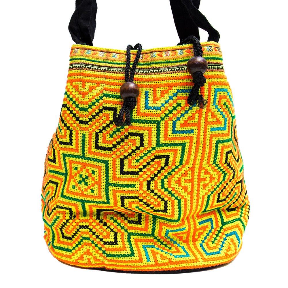 モン族 民族刺繍古布を使用した手提げバッグ