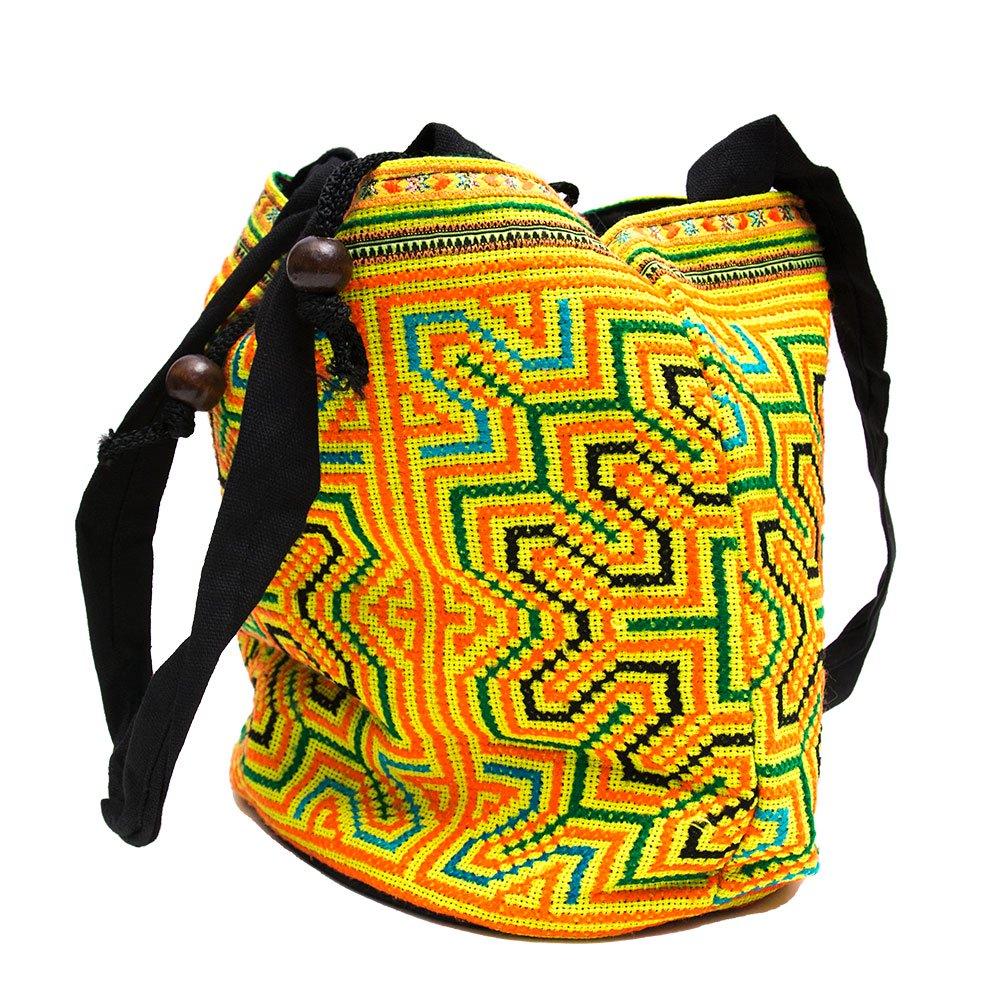 画像2:モン族 民族刺繍古布を使用した手提げバッグ