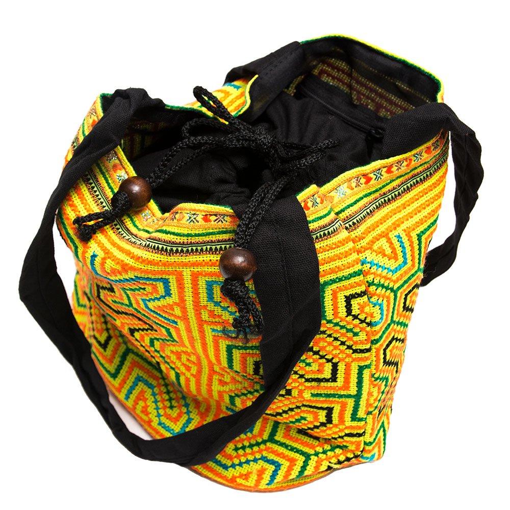 画像3:モン族 民族刺繍古布を使用した手提げバッグ