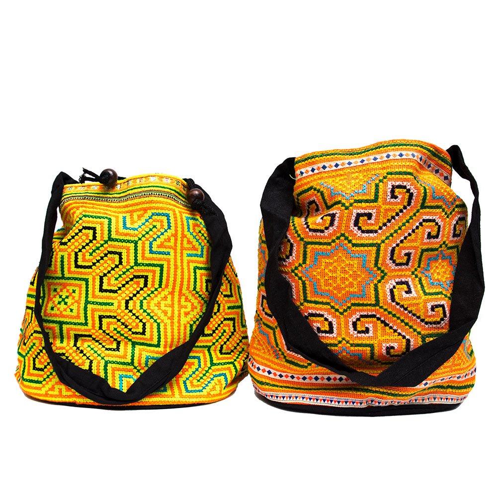 画像4:モン族 民族刺繍古布を使用した手提げバッグ