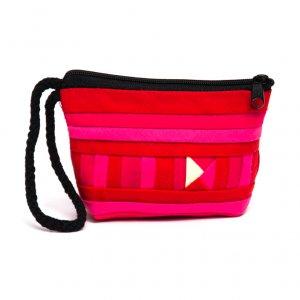 リス族刺繍のカラフルコインケース(ピンク)