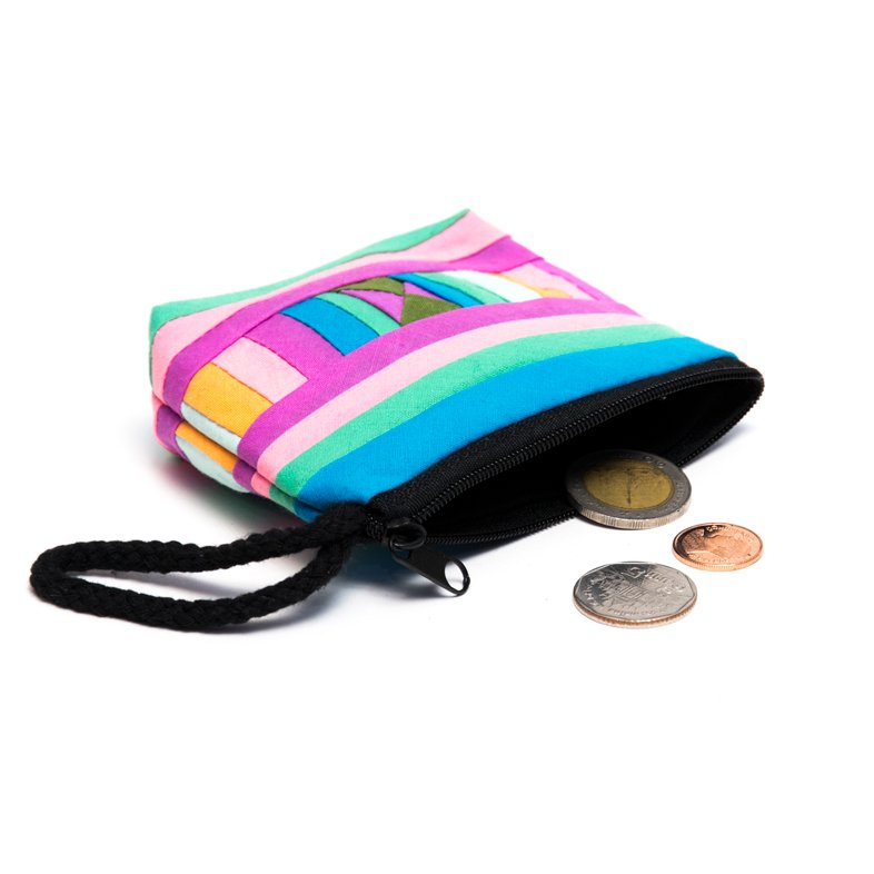 リス族刺繍のカラフルコインケース(パステル)