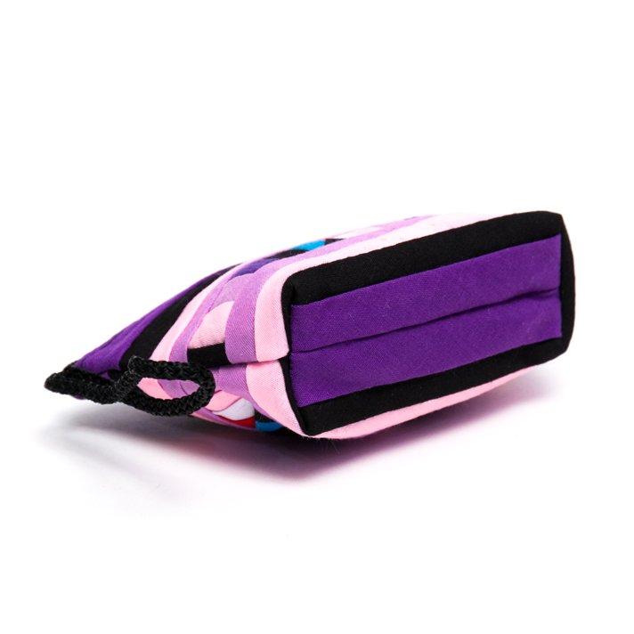 リス族刺繍のカラフルコインケース(パープル/ピンク)