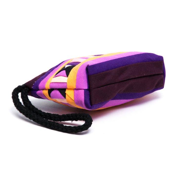 リス族刺繍のカラフルコインケース(ライトパープル)
