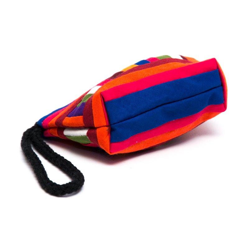 リス族刺繍のカラフルコインケース(レッド/ブルー)
