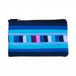 リス族刺繍のカラフルカードケース(ブルー)