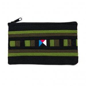 リス族刺繍のカラフルカードケース(グリーン)