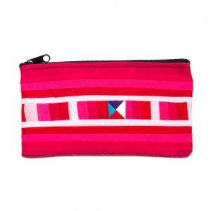 リス族刺繍のカラフルカードケース(ピンク)