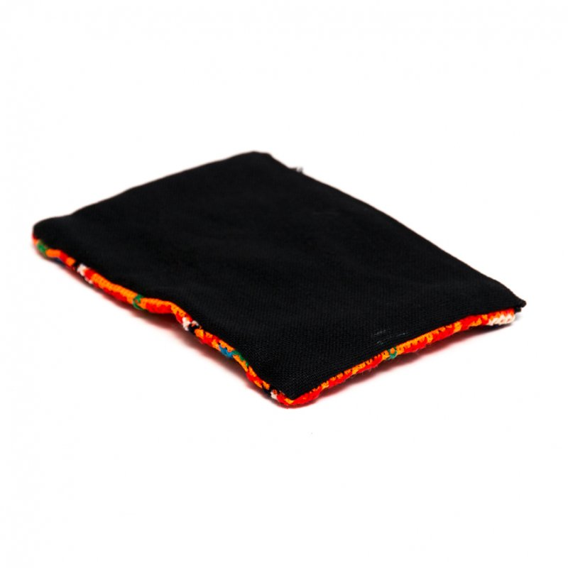 画像3:モン族 民族刺繍のかわいい小物ポーチ(オレンジ)