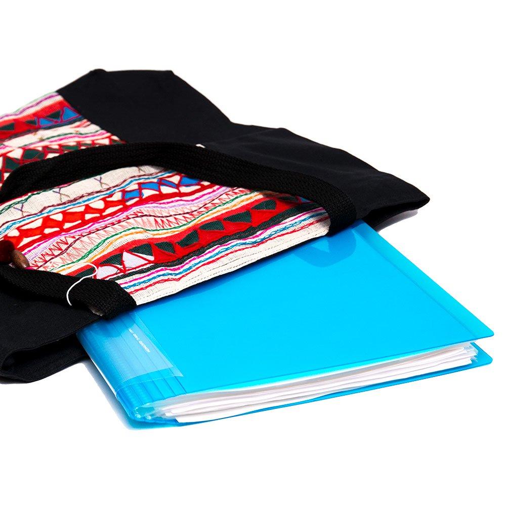 画像3:アカ族刺繍の大判トートバッグ Type.1