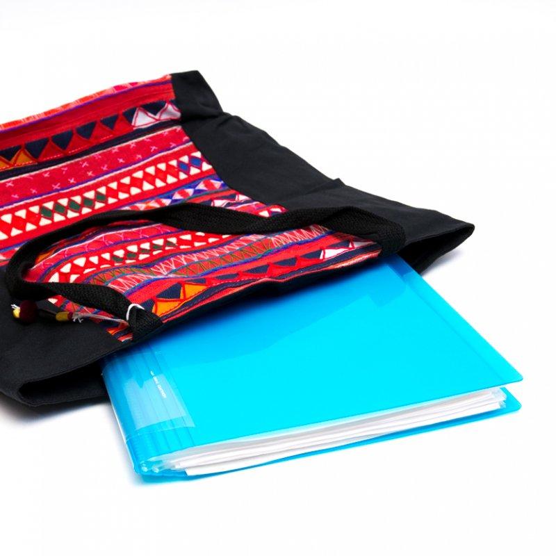 画像3:アカ族刺繍の大判トートバッグ Type.2